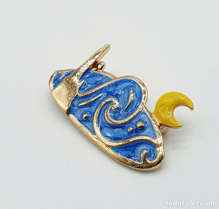 Joyeria: Elegante broche de la noche estrellada de Vincent van Gogh con baño de oro y esmaltes al fuego . - Foto 4 - 270120958