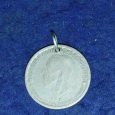 Joyeria: COLGANTE ANTIGUA MONEDA DE PLATA 1947.. Lote 270257868