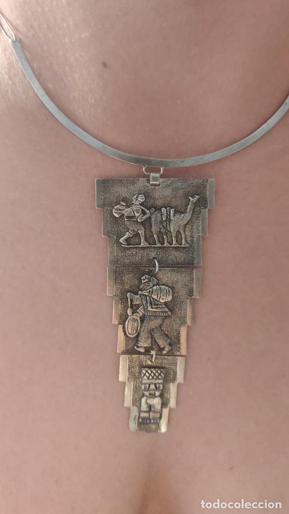 COLLAR ANTIGUO PREHISPÁNICO DE PLATA 900 (Joyería - Collares Antiguos)