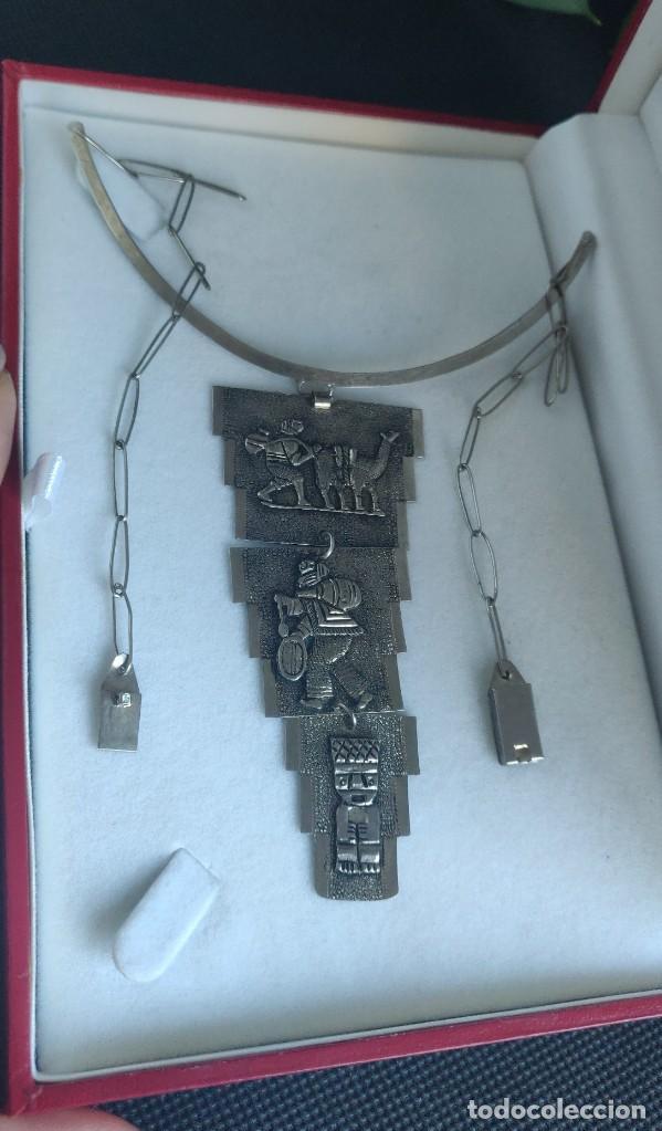 Joyeria: Collar antiguo Prehispánico de plata 900 - Foto 3 - 272784093