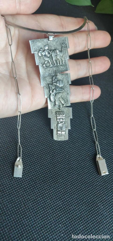 Joyeria: Collar antiguo Prehispánico de plata 900 - Foto 5 - 272784093