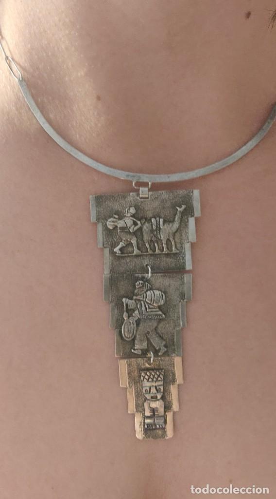 Joyeria: Collar antiguo Prehispánico de plata 900 - Foto 10 - 272784093