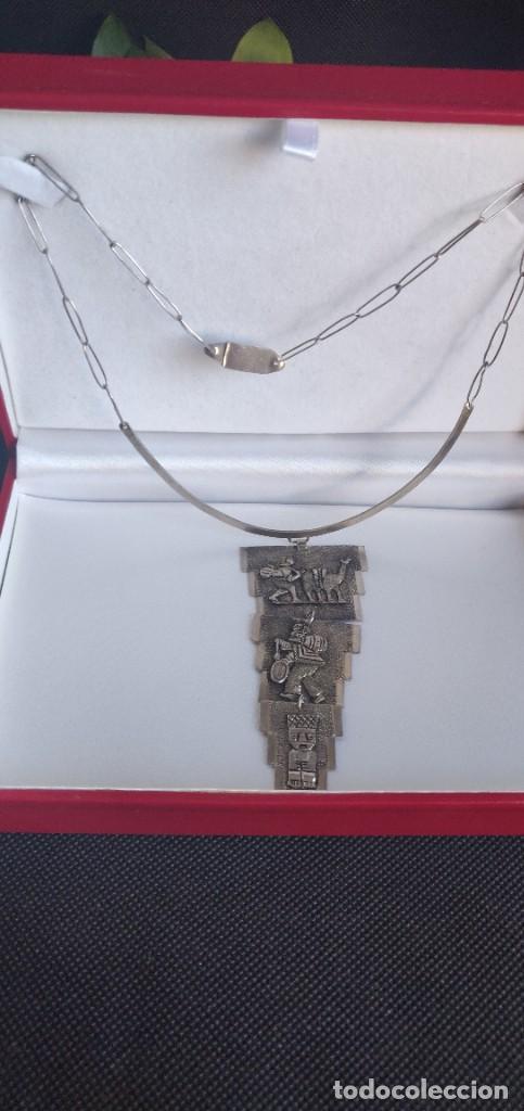 Joyeria: Collar antiguo Prehispánico de plata 900 - Foto 12 - 272784093