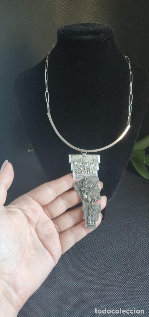 Joyeria: Collar antiguo Prehispánico de plata 900 - Foto 13 - 272784093