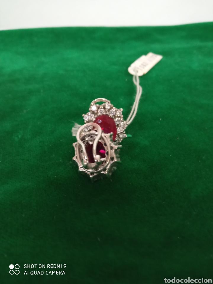 Joyeria: Pendientes plata y piedra roja - Foto 3 - 183779260