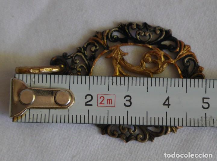Joyeria: Antiguo colgante de plata dorada letra M - Foto 6 - 273305498