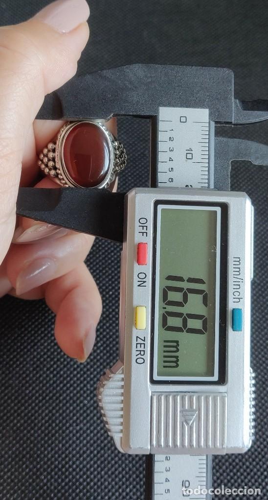 Joyeria: Anillo hombre plata 1°a ley 925 y Cornalina, n° 20 equivalente a 19.1 mm diámetro interior. - Foto 10 - 273720938