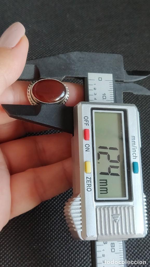 Joyeria: Anillo hombre plata 1°a ley 925 y Cornalina, n° 20 equivalente a 19.1 mm diámetro interior. - Foto 11 - 273720938