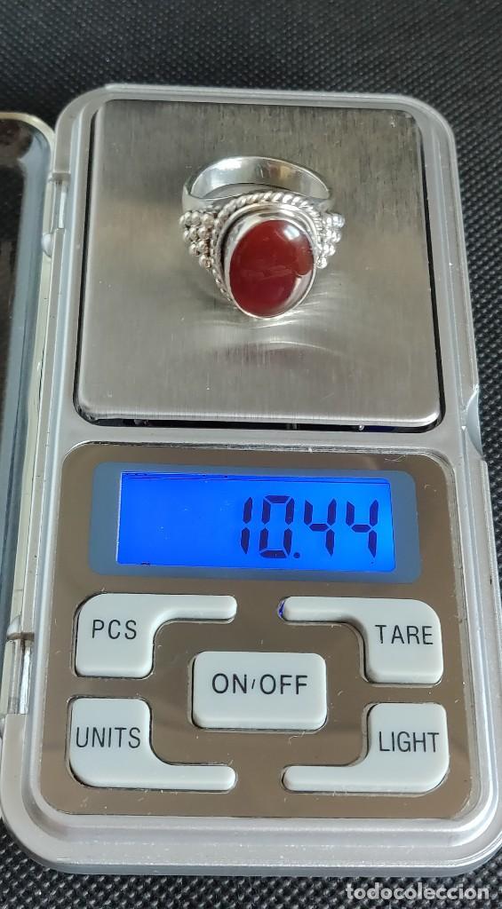 Joyeria: Anillo hombre plata 1°a ley 925 y Cornalina, n° 20 equivalente a 19.1 mm diámetro interior. - Foto 16 - 273720938