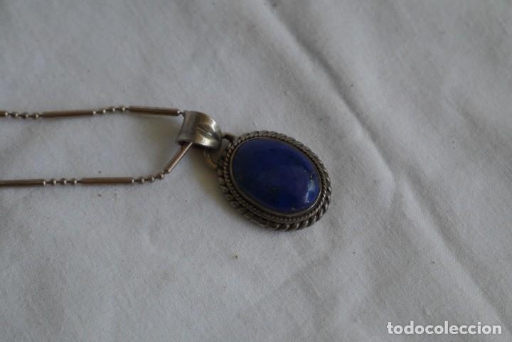Joyeria: Colgante de lapisláuli en plata 925 con cadena de plata 925 - Foto 3 - 274634043