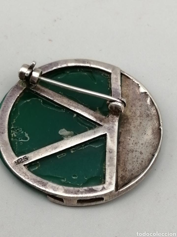 Joyeria: Broche plata de ley Ágata verde y marquesitas - Foto 5 - 275757883