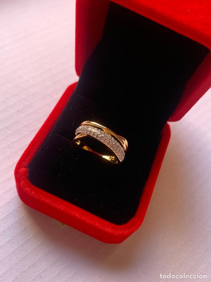 Joyeria: Precioso anillo de plata Laminado en Oro 18K Talla 7 Con piedras brillantes - Foto 5 - 276885738