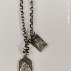 Joyeria: JOY-1682. CADENA DE PLATA CON 2 MEDALLAS RELIGIOSAS. PRINCIPIOS S.XX.. Lote 276909608