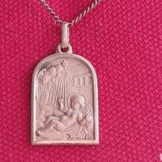 Joyeria: CADENA Y MEDALLA EN PLATA DE LEY 925 NIÑO JESUS CON ANGELES. Lote 277306508