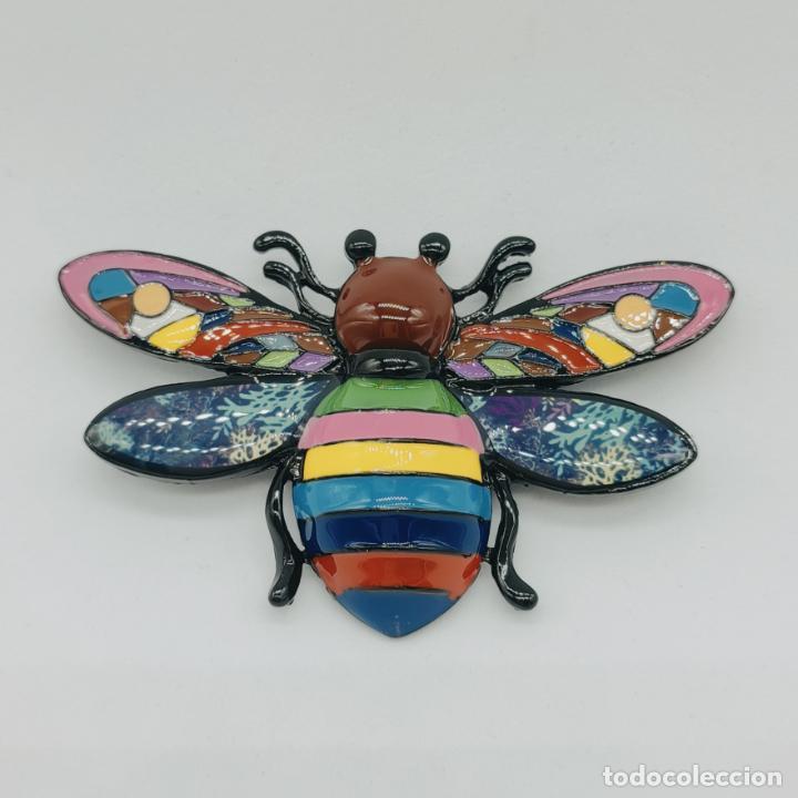 Joyeria: Bello broche colgante insecto de diseño con acabados en rutenio y esmaltes . - Foto 6 - 277764033