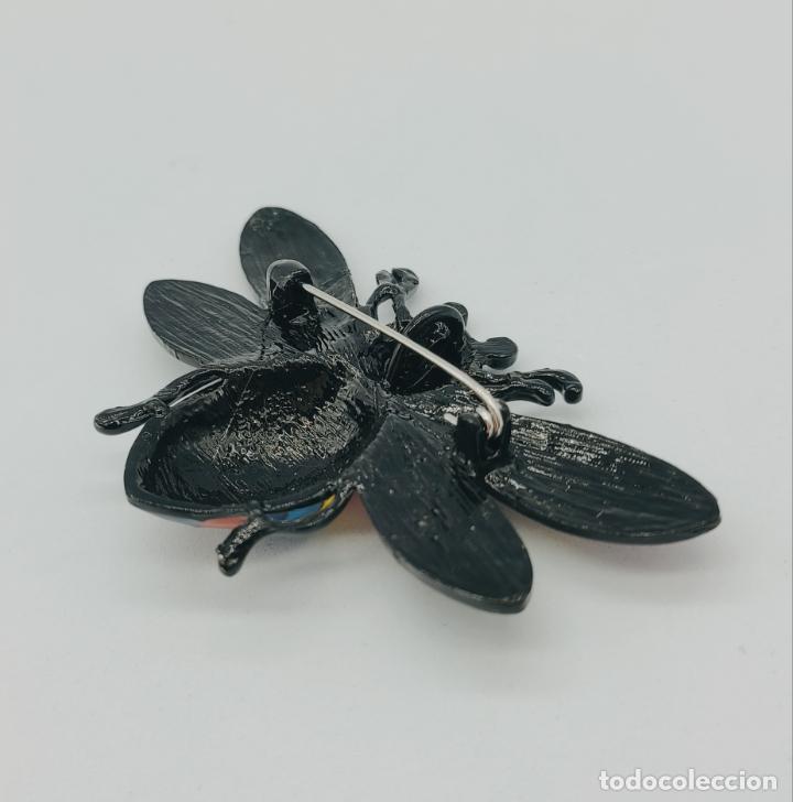 Joyeria: Bello broche colgante insecto de diseño con acabados en rutenio y esmaltes . - Foto 7 - 277764033