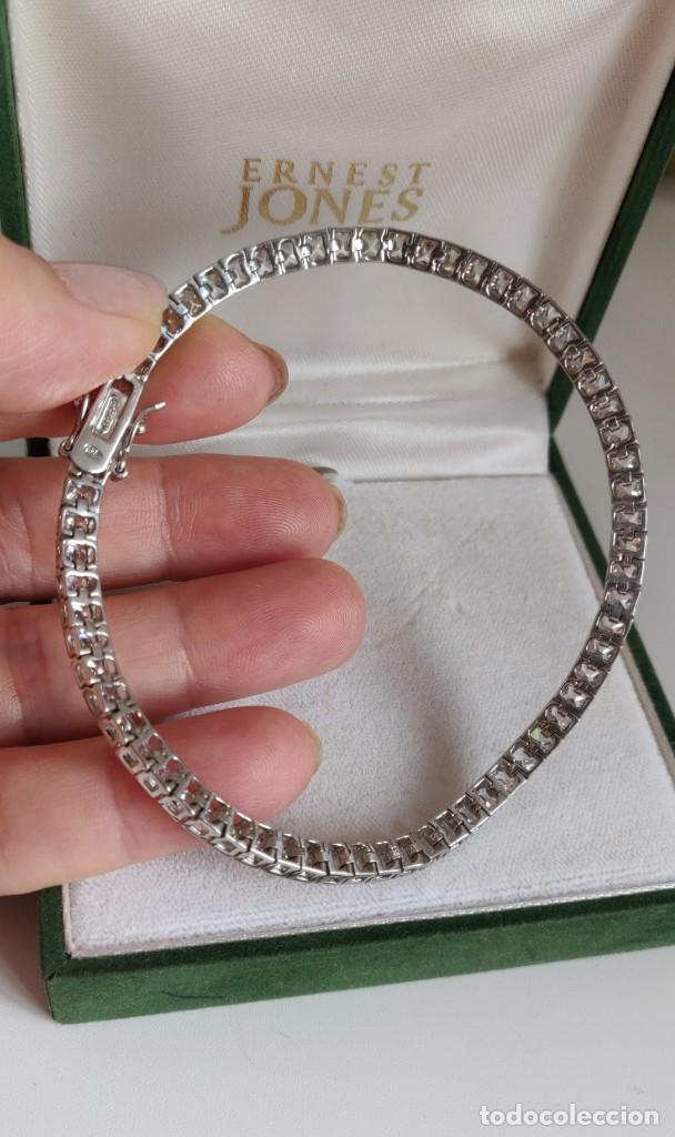 Joyeria: Pulsera de tenis unisex de plata de ley 925 rodiada y Circonitas de 23 cm. - Foto 8 - 278349653