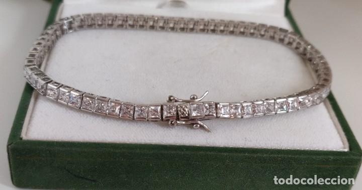 Joyeria: Pulsera de tenis unisex de plata de ley 925 rodiada y Circonitas de 23 cm. - Foto 10 - 278349653