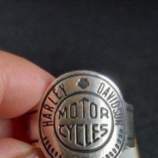 Joyeria: ANILLO DE HOMBRE HARLEY DAVISON MOTOR CICLES DE PLATA 925 MÉXICO, N° 28. Lote 278840193