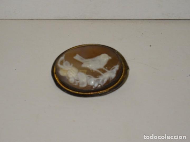 Joyeria: BROCHE CAMAFEO EN PLATA Y HILITO DE ORO ANTIGUO-3,5X2,5 CM. SEÑALES DE USO NORMALES - Foto 2 - 280790213