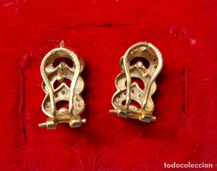 Joyeria: bonitos pendientes de corazones en oro blanco y amarillo 18 kilates y circonitas - Foto 5 - 283167643