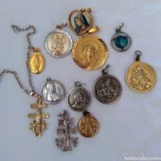 Joalheria: LOTE DE 12 MEDALLITAS RELIGIOSAS. Lote 284392103