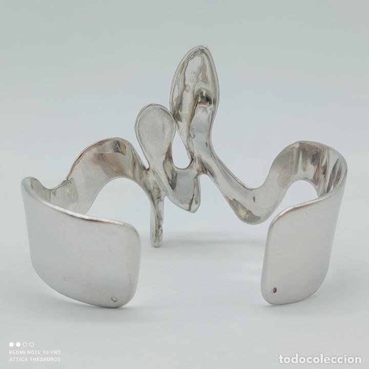 Joyeria: Sofisticado y original brazalete de diseño exclusivo en plata de ley maciza 925 . - Foto 4 - 284412003