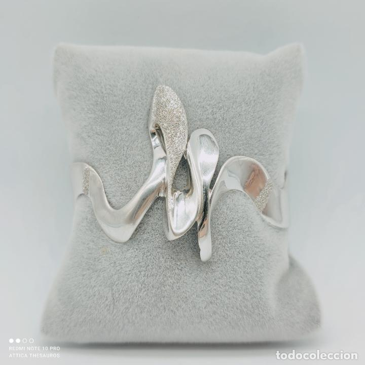 Joyeria: Sofisticado y original brazalete de diseño exclusivo en plata de ley maciza 925 . - Foto 6 - 284412003
