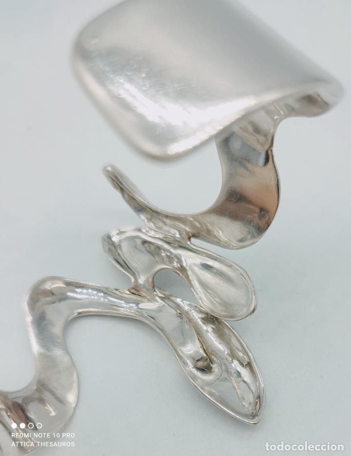 Joyeria: Sofisticado y original brazalete de diseño exclusivo en plata de ley maciza 925 . - Foto 8 - 284412003