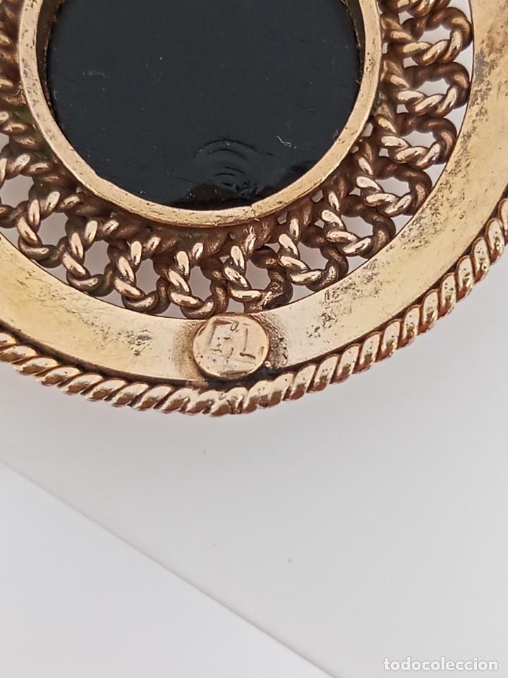 Joyeria: Antiguo colgante filigrana oro laminado y ónix GL circa 1945 - Foto 6 - 284469853