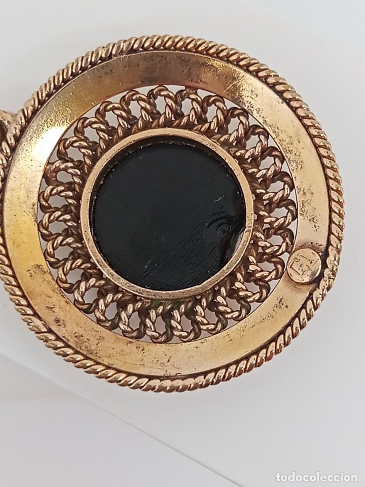 Joyeria: Antiguo colgante filigrana oro laminado y ónix GL circa 1945 - Foto 7 - 284469853