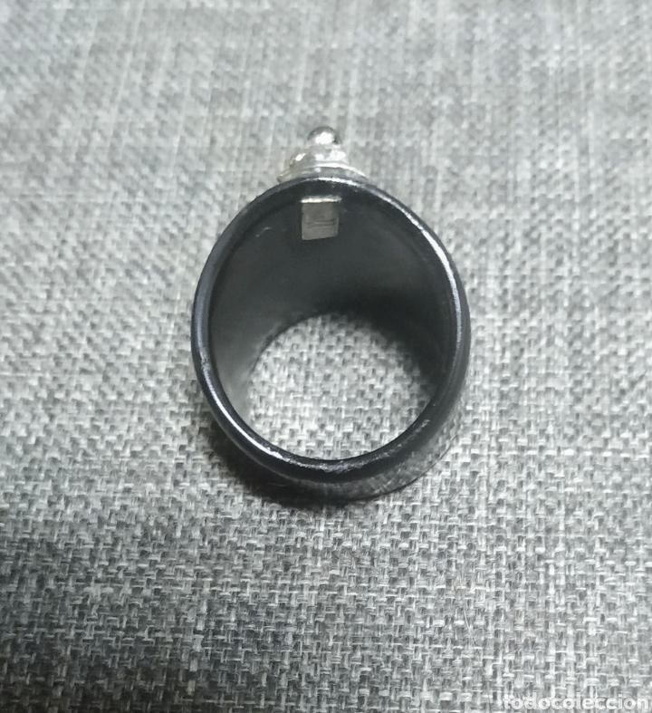 Joyeria: Anillo de cuerno y plata, Artesanal - Foto 3 - 285138438