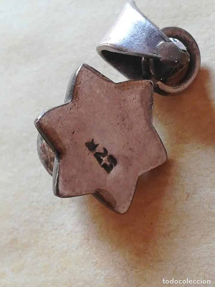 Joyeria: Antiguo colgante con piedra granata con sello 925 - Foto 2 - 285284853