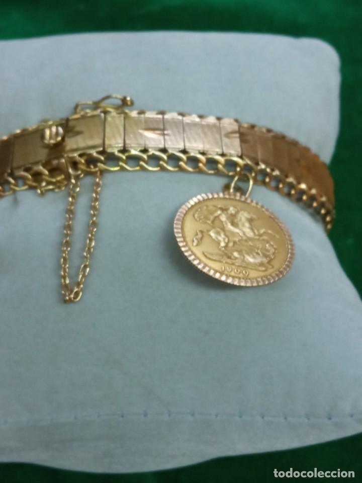 Joyeria: Pulsera con colgante oro 18K.- 31 grs - Foto 5 - 287672683