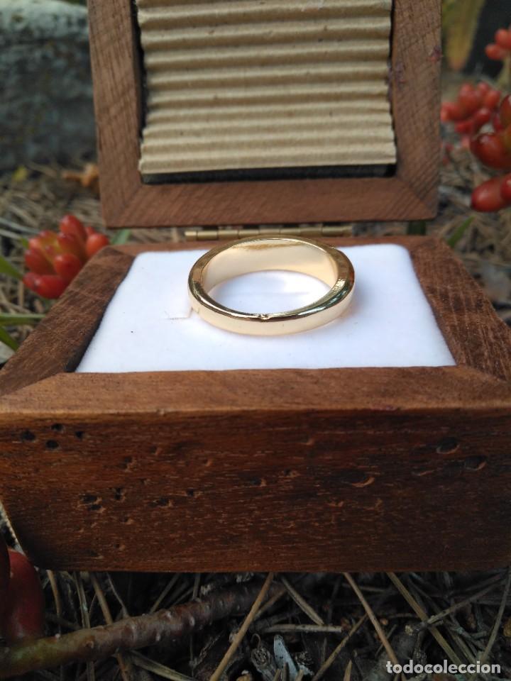 Joyeria: Anillo de compromiso laminado en oro 18k con zirconitas engarzadas - Foto 7 - 287782938