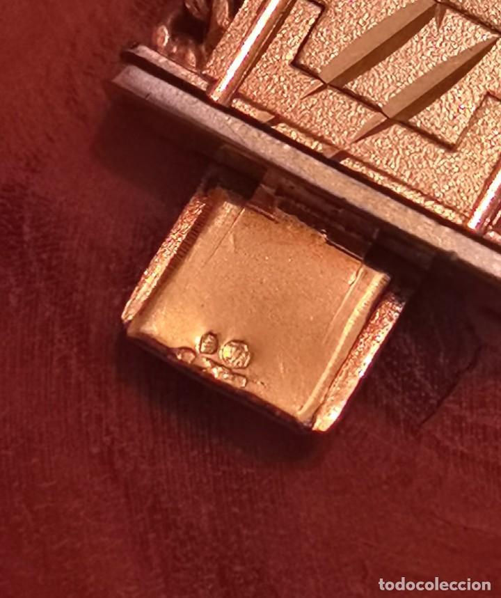 Joyeria: ANTIGUA PULSERA BRAZALETE VINTAGE CON PLAQUE DE ORO 18K PESO 74,27grs (ORO 5% = 3,7grs de oro) - Foto 6 - 287783508