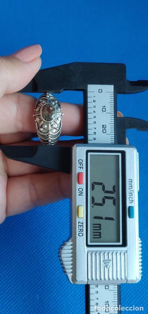 Joyeria: Anillo vintage de plata de ley maciza 925 y cuarzo facetado. - Foto 16 - 288060093