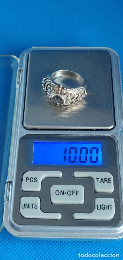 Joyeria: Anillo vintage de plata de ley maciza 925 y cuarzo facetado. - Foto 20 - 288060093