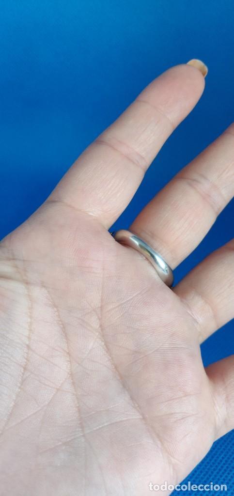 Joyeria: Anillo vintage de plata de ley maciza 925 y cuarzo facetado. - Foto 29 - 288060093