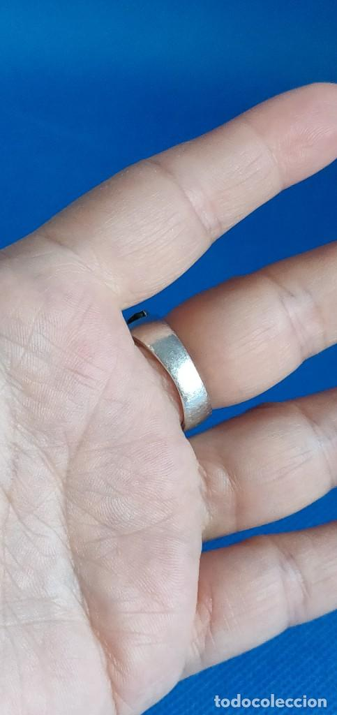 Joyeria: Anillo vintage de plata de ley 925 y 6 Turmalina talla n°15 equivale 17.5 mm - Foto 18 - 288065918
