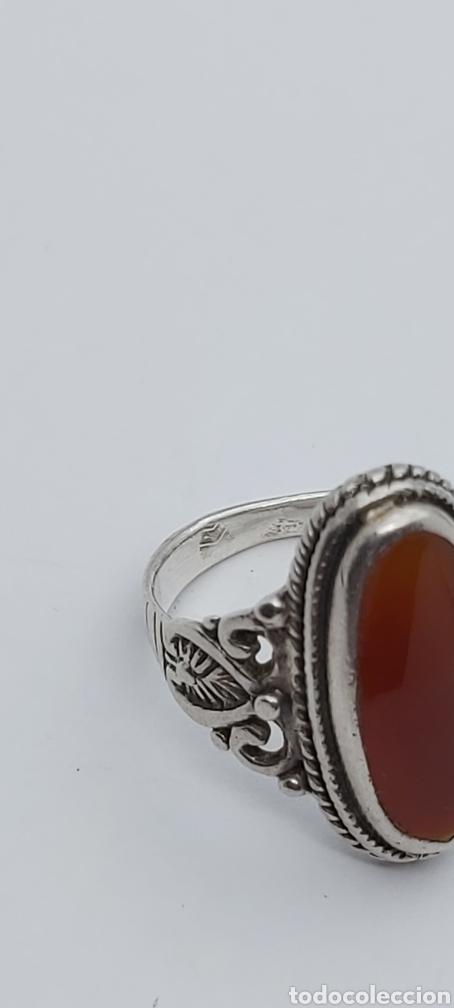 Joyeria: Anillo Vintage con Cornalina en plata de ley - Foto 5 - 288149903