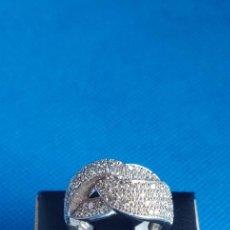 Joyeria: SORTIJA DE PLATA DE LEY 925 RODIADA Y CIRCONITAS, TALLA N°12 EQUIVALENTE A 16.5 MM.. Lote 288726778