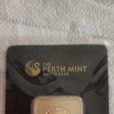 Joyeria: LINGOTTO TE PERTH MINT 1 OZ GOLD PLATED. Lote 289654748