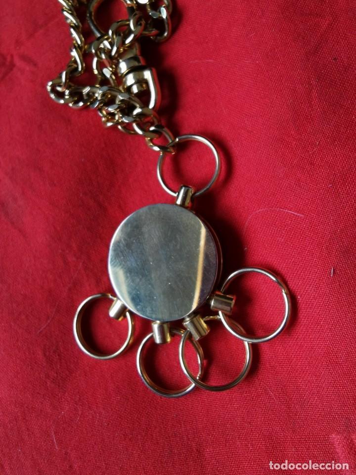 Joyeria: Cadena con dije para llaves o reloj de bolsillo. Moneda Lincoln. 1909.leer bien el anuncio - Foto 5 - 289685193