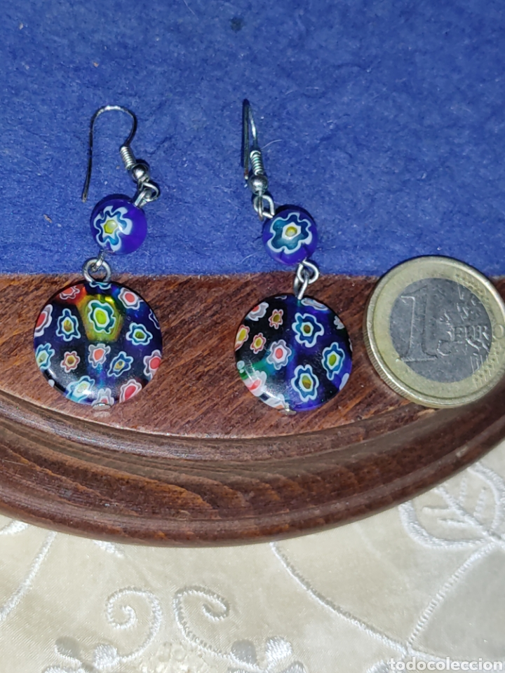 Joyeria: Pendientes de cristal Millefiori o murano - Foto 2 - 289768253