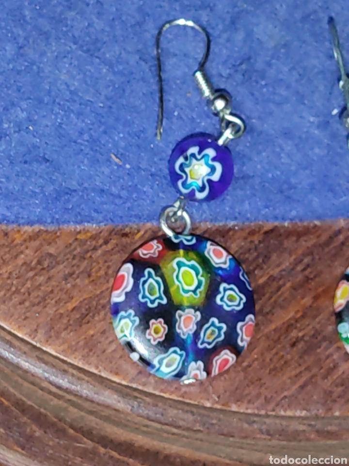 Joyeria: Pendientes de cristal Millefiori o murano - Foto 4 - 289768253