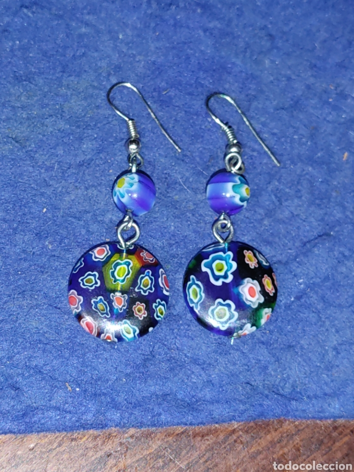 Joyeria: Pendientes de cristal Millefiori o murano - Foto 6 - 289768253