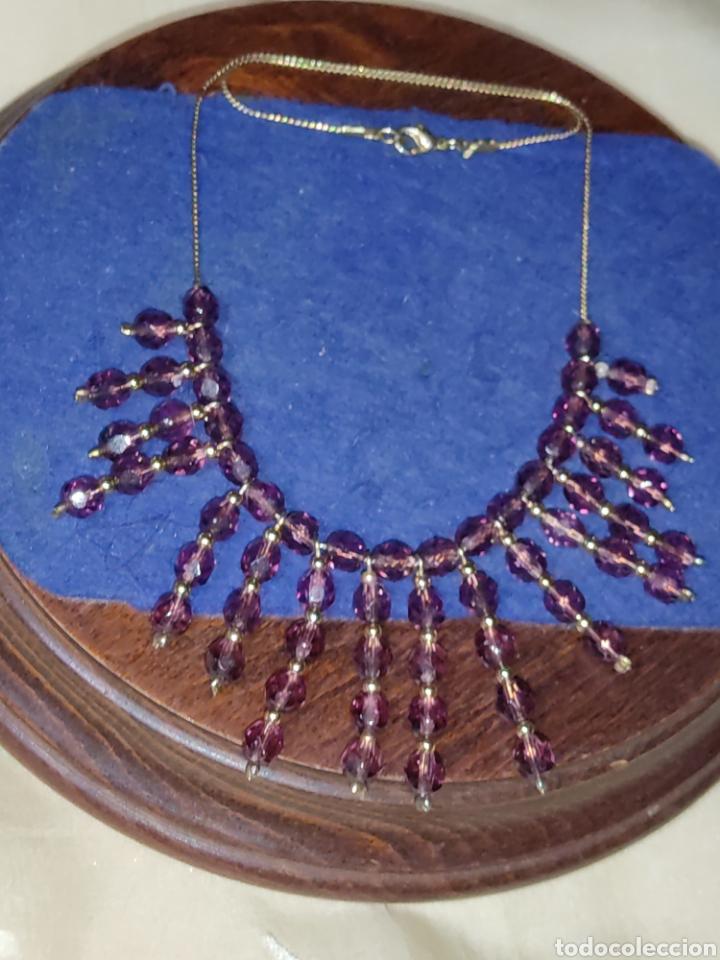 Joyeria: Gargantilla o collar de cristal o granates facetados. - Foto 2 - 289769858