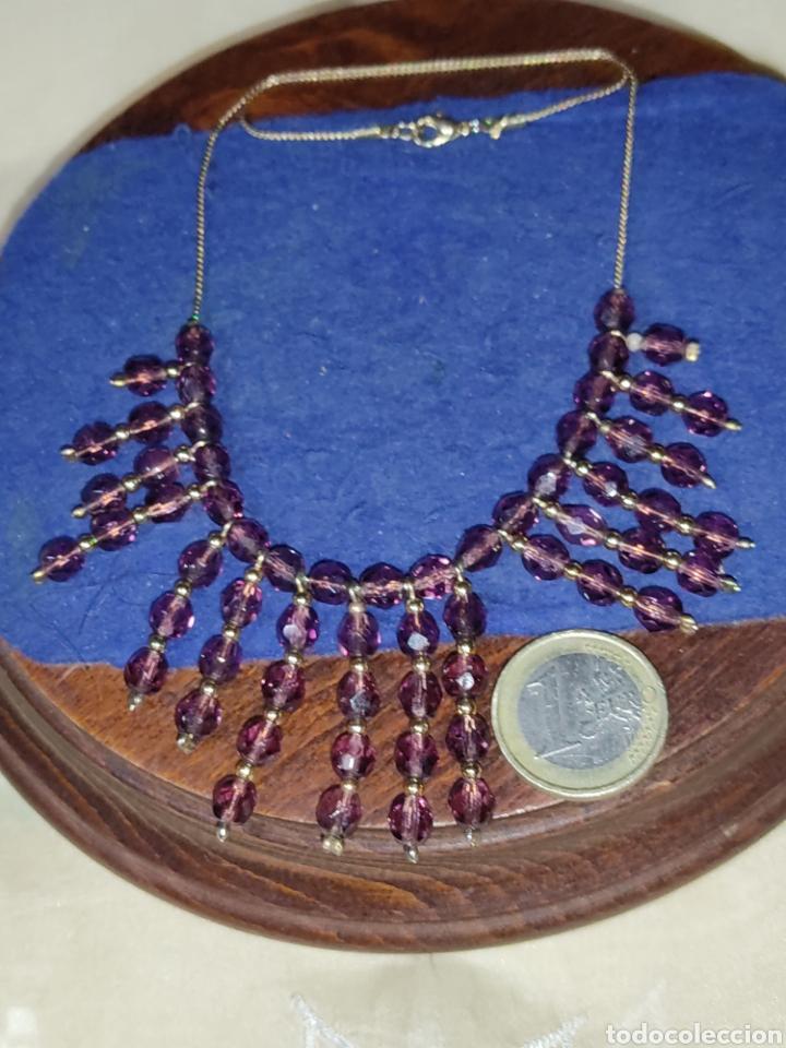 Joyeria: Gargantilla o collar de cristal o granates facetados. - Foto 4 - 289769858