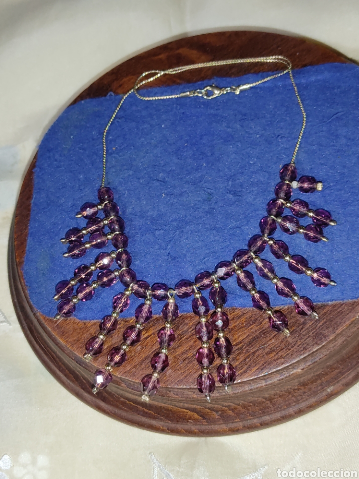 Joyeria: Gargantilla o collar de cristal o granates facetados. - Foto 5 - 289769858